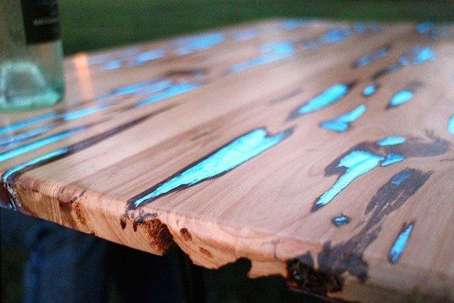 Tavolini In Legno Fai Da Te : Tavolo luminescente quando il fai da te diventa arte