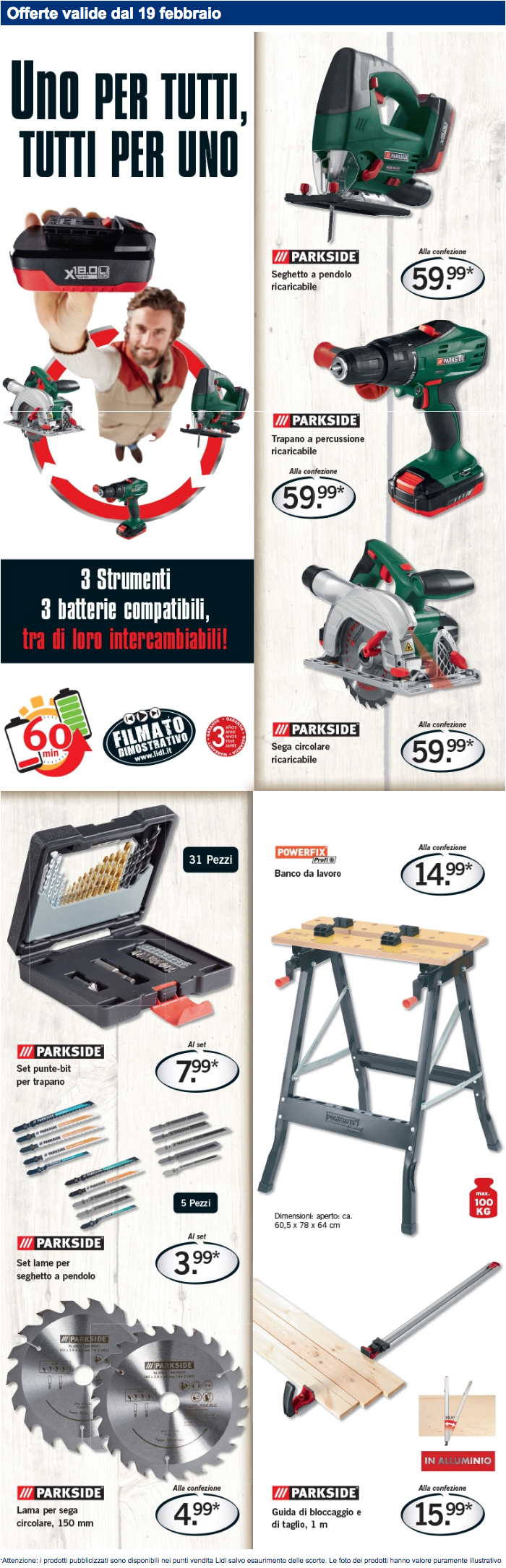 Parkside offerta lidl fai da te del 19 02 ne vale for Seghetto alternativo parkside lidl
