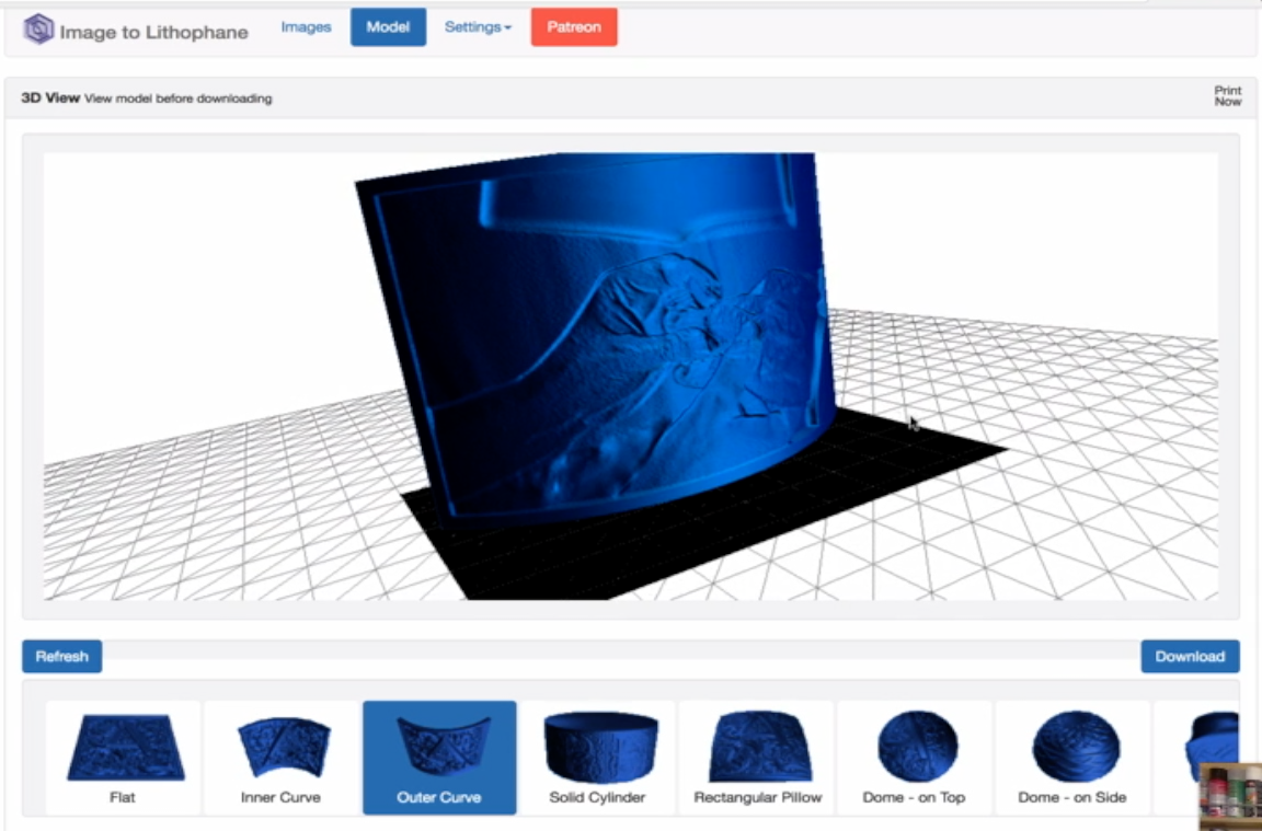 Litografia con la stampa 3D
