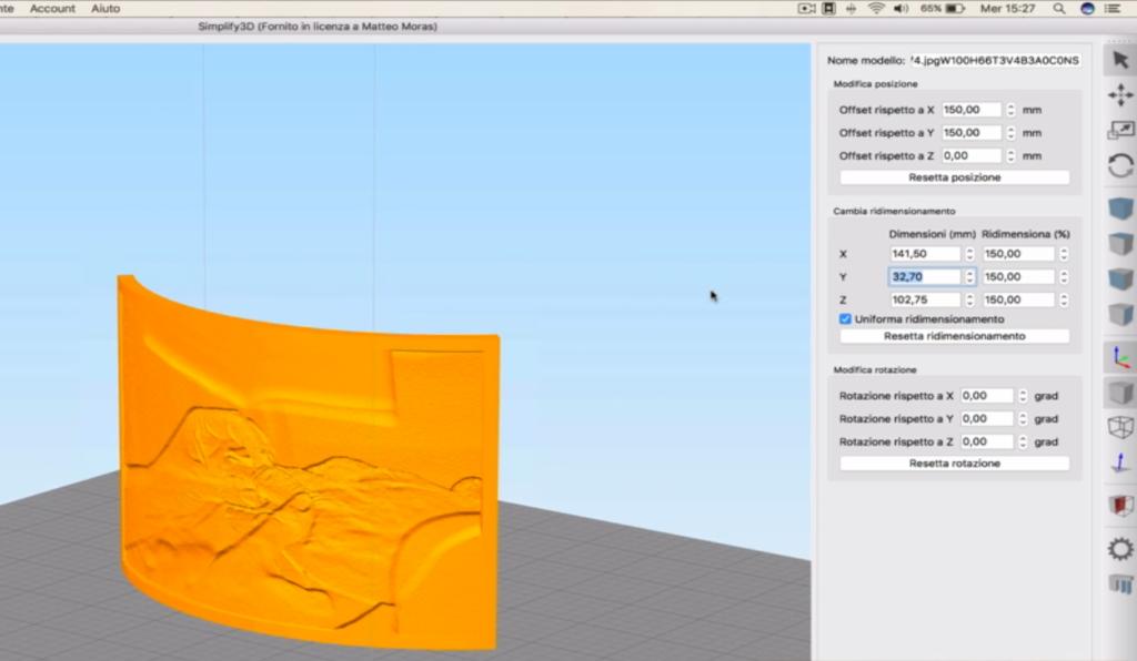 Litofania stampa 3D