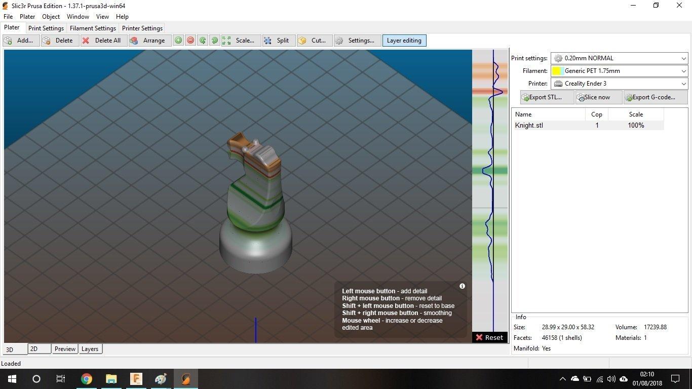 Slic3r slicer stampa 3D