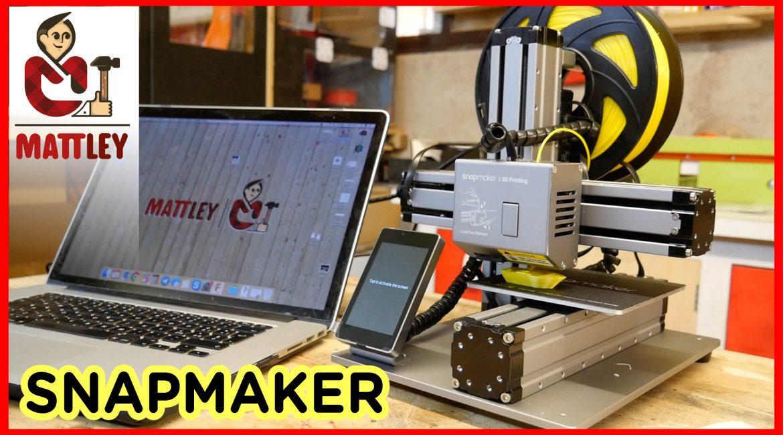 SnapMaker – Stampante 3D, Incisore laser e CNC in una sola macchina
