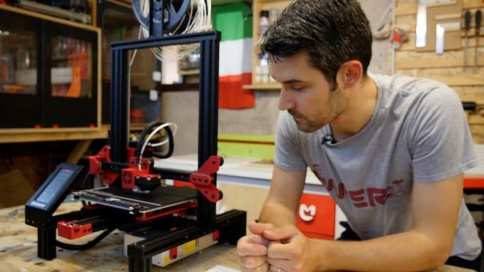 Test e unboxing della stampante 3D