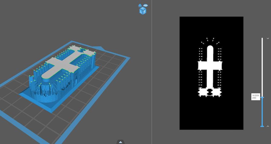 Slicer stampante 3D a resina