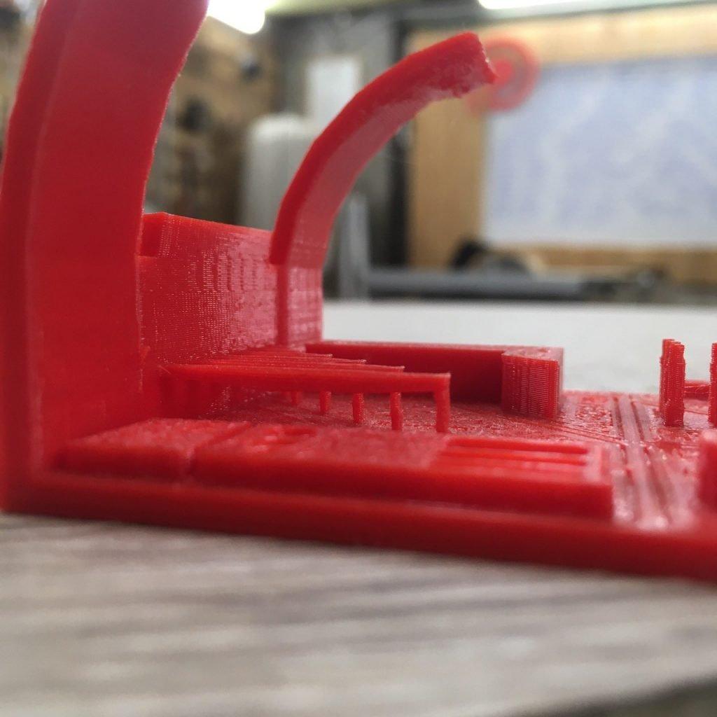 bridging test sulla stampante 3D