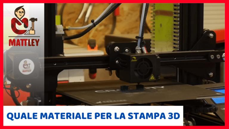 Che materiale si usa per le stampanti 3D?